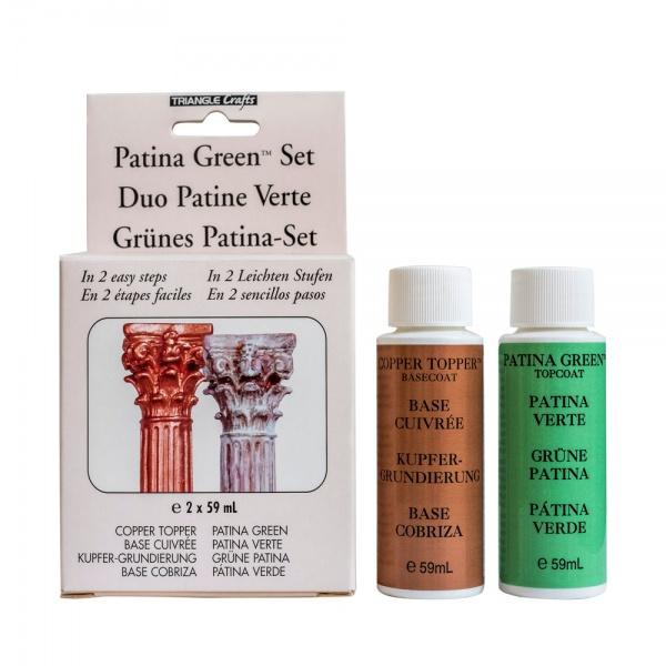 Grünes Patina Set